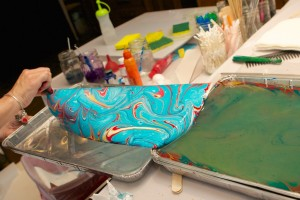 Private Paper Marbling Workshop – Thursday evening – September 24, 2015