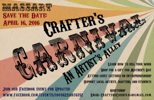 Crafter's Carnival at MassArt – Saturday, April 16, 2016