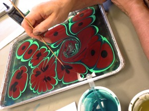Paper Marbling with Tapas – Saturday Night Fun – March 16 at Hajosy Arts