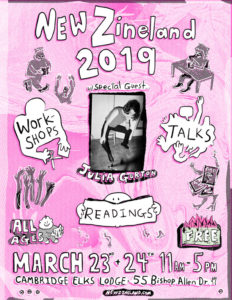 New Zineland – Zine/Book Fair Cambridge – March 24, 2019