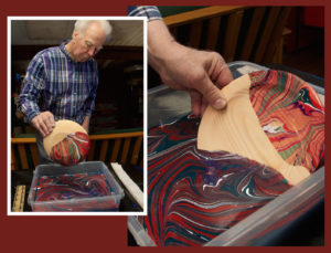 Marbleized Shallow Wooden Bowl – April 20 and 28 – Eliot School