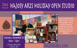 Holiday Open Studio – Hajosy Arts, Canton – Saturday, November 30