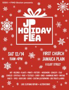 2019 JP Holiday Flea – Saturday, December 14 – First Church in Jamaica Plain