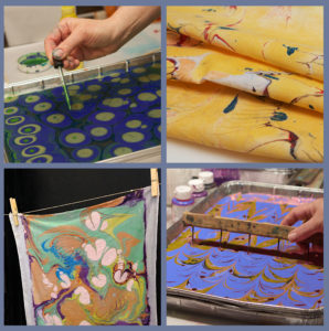New at Fuller Craft – Marbling for Quilters – Sunday, April 19- CANCELED