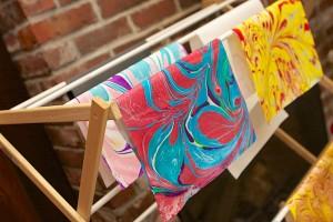 Paper Marbling with Tapas – Friday night, May 31 – at Hajosy Arts, Canton