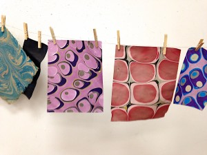 Paper Marbling – The Eliot School – Fall 2017 Winter 2018