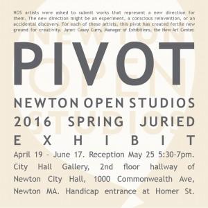 PIVOT – Group Art Exhibit – Newton Open Studios – through June 17, 2016
