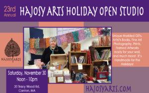 Holiday Open Studio – Hajosy Arts, Canton – Saturday, November 30